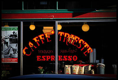 Photograph - Caffe Trieste Espresso Window by Bonnie Follett