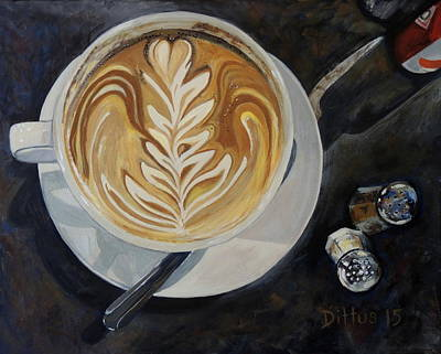 Painting - Caffe Vero Cappie by Chrissey Dittus