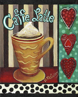 Coffee Painting - Caffe Latte by Debbie McCulley