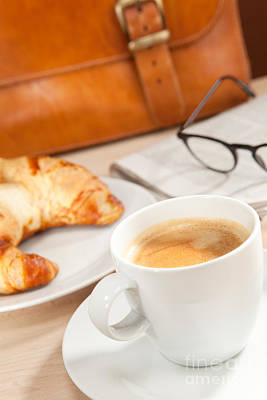 Pastry Bag Photograph - Caffeine And News For Breakfast by Wolfgang Steiner