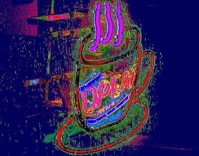 Photograph - Caffeine Light Is Lit by Larry Beat