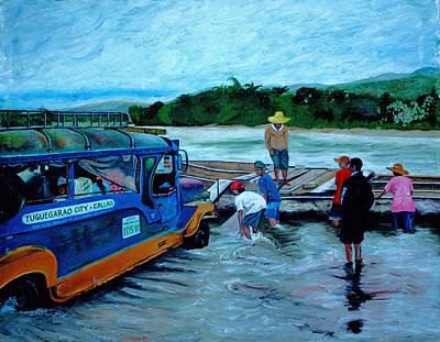 Painting - Cagayan River by Carol Tsiatsios
