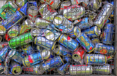 Caged Cans Art Print