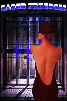 Photograph - Caged Freedom-abstract Vision Fosse's Chicago by Renee Anderson