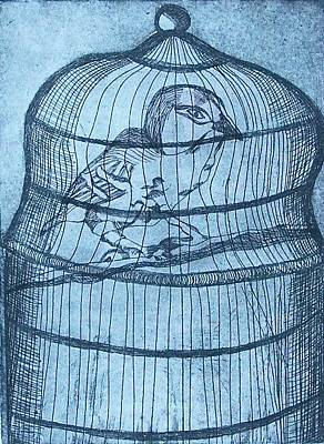Drawing - Caged by Liz Adkinson