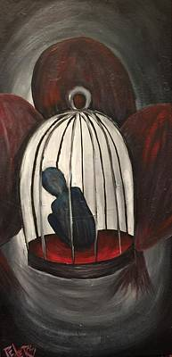 Cage Painting - Caged by Susan Peters