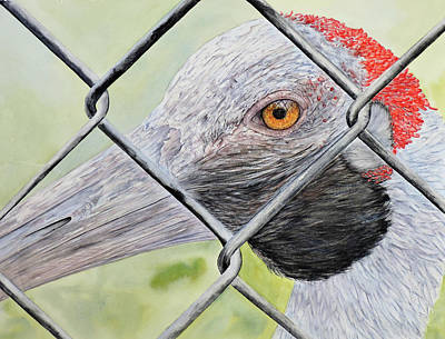 Lilla Painting - Caged by Vicky Lilla