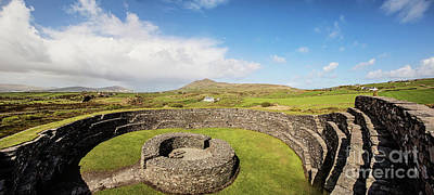 Photograph - Cahergall Stone Fort Panoramic by Scott Pellegrin