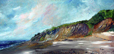Painting - Cahoon Hollow Beach by Michael Helfen