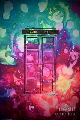 Caia's Tardis Art Print by Justin Moore