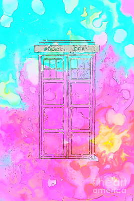 Caia's Tardis Sketch Art Print by Justin Moore