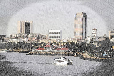 Tom Parker Photograph - Cailiforna Long Beach Skyline Pa 01 by Thomas Woolworth