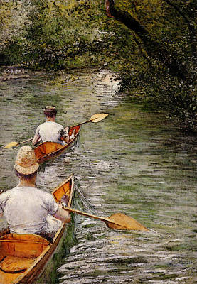 Canoe Digital Art - Caillebotte Gustave Perissoires Aka The Canoes by Gustave Caillebotte