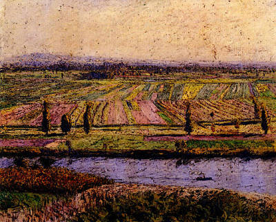 Caillebotte Gustave The Gennevilliers Plain Seen From The Slopes Of Argenteuil Art Print by Gustave Caillebotte