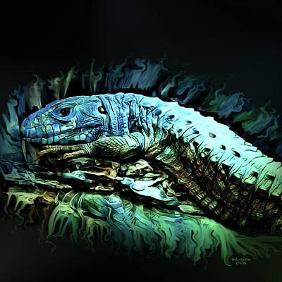 Digital Art - Caiman Lizard  by Artful Oasis