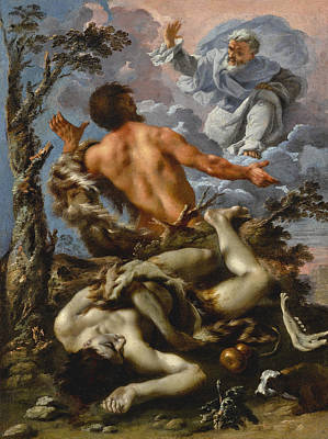 Painting - Cain And Abel by Alessandro Rosi