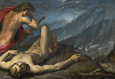 Cain Painting - Cain And Abel by Follower of Pier Francesco Mazzucchelli