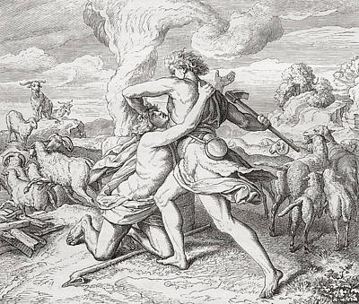 Cain Killing His Brother Abel, After Art Print