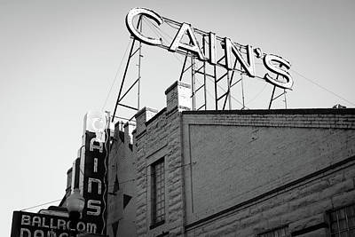 Photograph - Cains Ballroom Music Hall Bw - Tulsa by Gregory Ballos