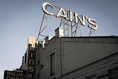 Photograph - Cains Ballroom Music Hall - Tulsa by Gregory Ballos