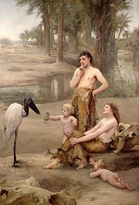 Woman And Baby Painting - Cain's First Crime by Charles Napier Kennedy