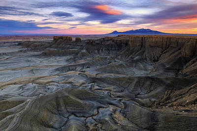 Photograph - Cainville Badlands by Johnny Adolphson
