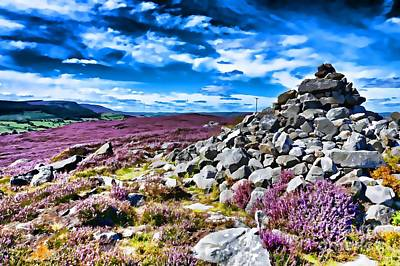 Photograph - Cairn And Heather by Les Bell