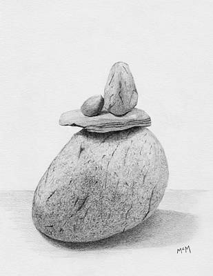 Drawing - Cairn Drawing by Garry McMichael