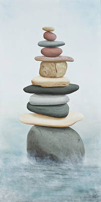 Painting - Cairn In The Mist by Garry McMichael