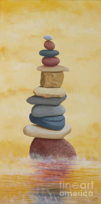 Painting - Cairn In The Morning Mist by Garry McMichael