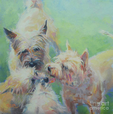 Cairn Terrier Painting - Cairn Kisses by Kimberly Santini