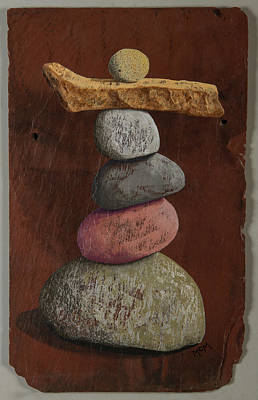 Photograph - Cairn On Slate by Garry McMichael