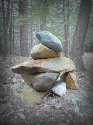 Mixed Media - Cairn by Susan Lafleur