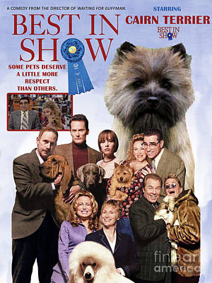 Painting - Cairn Terrier Art Canvas Print - Best In Show Movie Poster by Sandra Sij