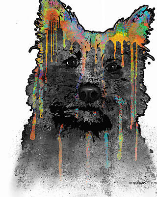 Terrier Digital Art - Cairn Terrier by Marlene Watson