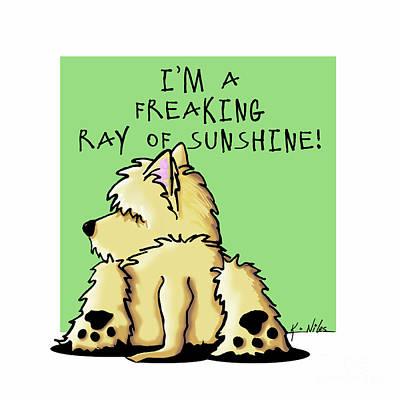 Cairn Terrier Sunshine Art Print by Kim Niles