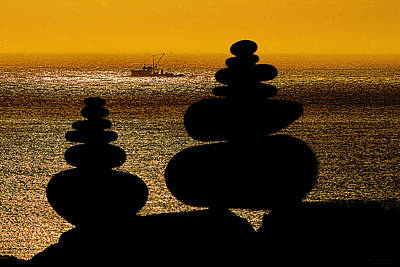 Photograph - Cairns In Silhouette by Marty Saccone