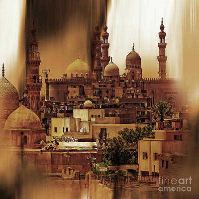 Egypt Painting - Cairo Egypt Art 03 by Gull G