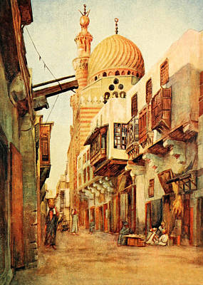 Photograph - Cairo Souk 1912 by Munir Alawi