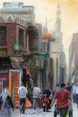 Painting - Cairo Street Market by Dale Turner