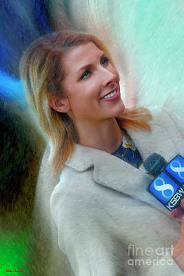 Photograph - Caitlin Conrad Channel 8 News by Blake Richards