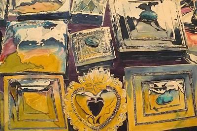 Mexico Painting - Cajas by Patrick DuMouchel