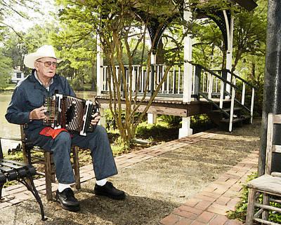 Cajun Man With Accordion Original by Robert Ponzoni