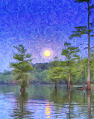 Acadian Painting - Cajun Moon by Dominic Piperata
