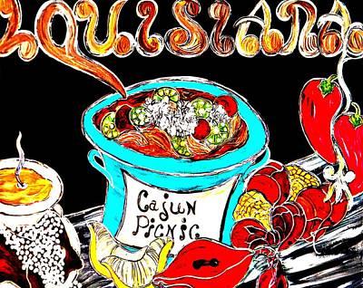 Cajun Picnic No.2 Print by Amy Carruth-Drum