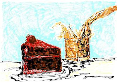 Digital Art - Cake And Whiskey by Karen  Renee