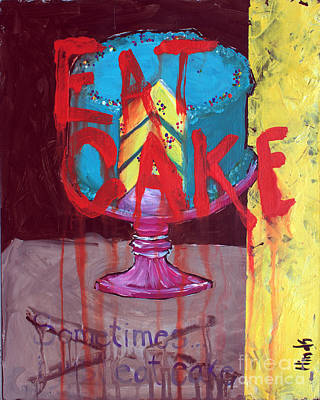 Outsider Art Painting - Cake by David Hinds