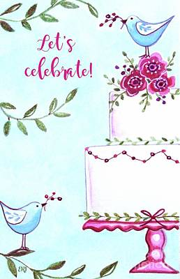 Painting - Cake With The Birds by Elizabeth Robinette Tyndall