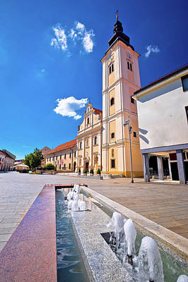 Photograph - Cakovec Square Church And Fountain View by Brch Photography