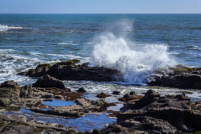 Photograph - Cal Coast Wave Crash 2 by Randy Bayne